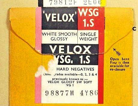 velox photo paper history