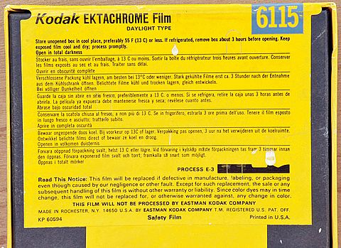 Early Kodak Ektachrome